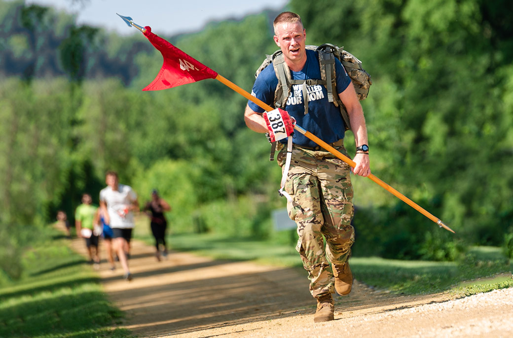 Army veteran running in the Run4Troops marathon